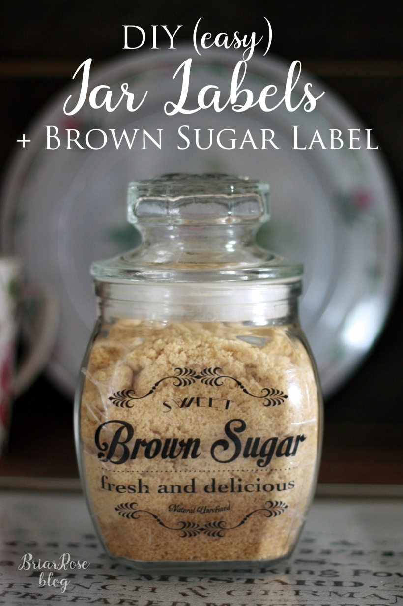 DIY (easy) Jar Labels + Free Brown Sugar Label