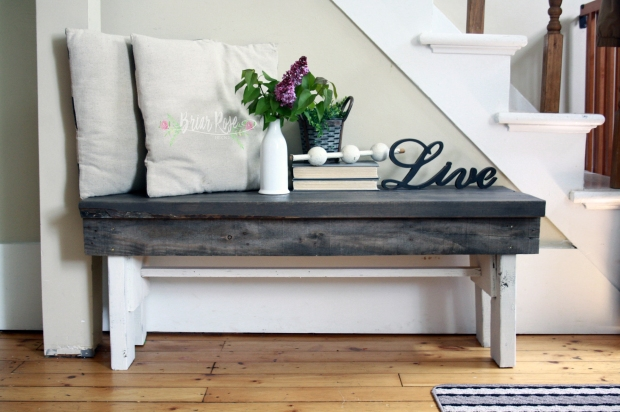 Reclaimed Wood - Entryway Bench (DIY)