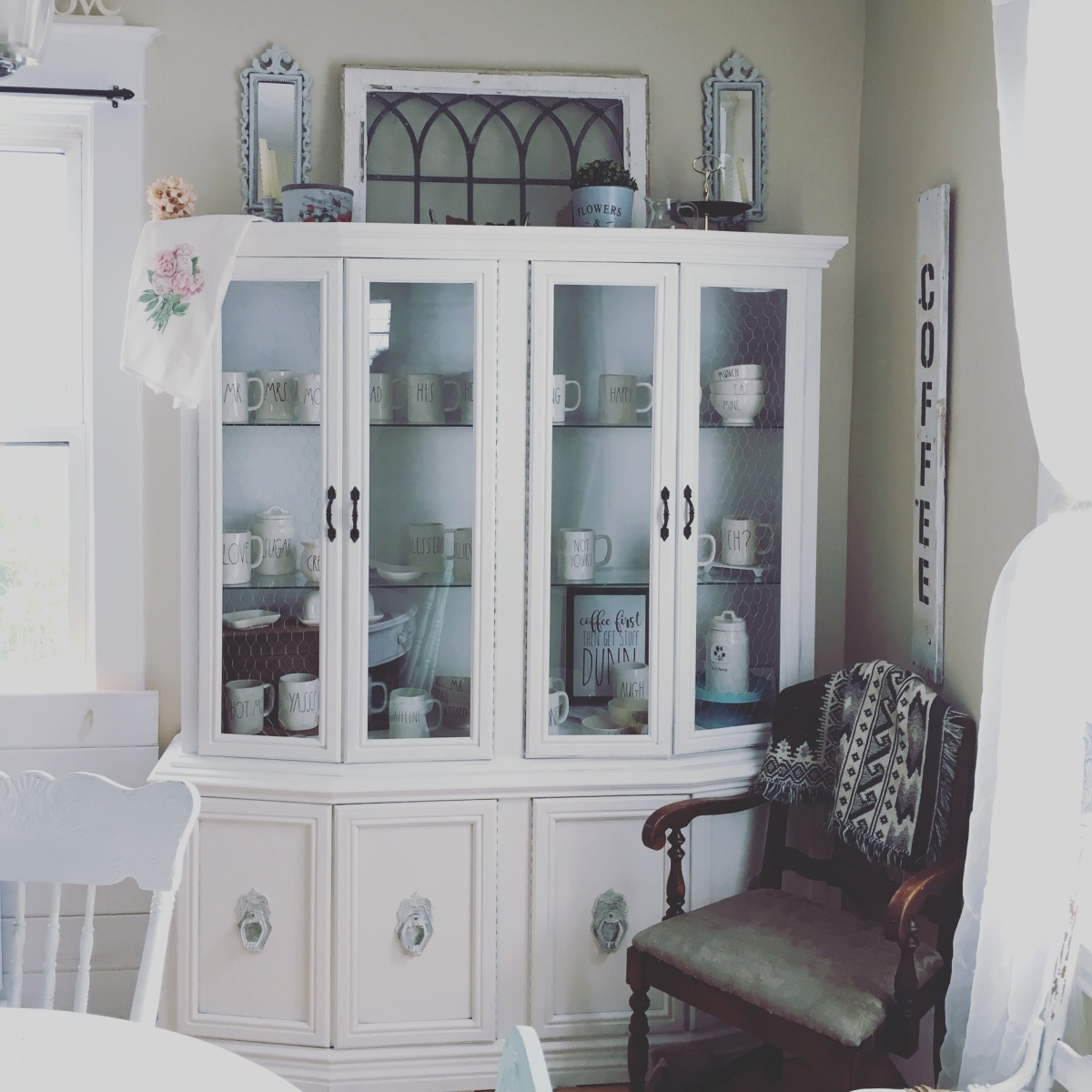 China Cabinet before & Progress.