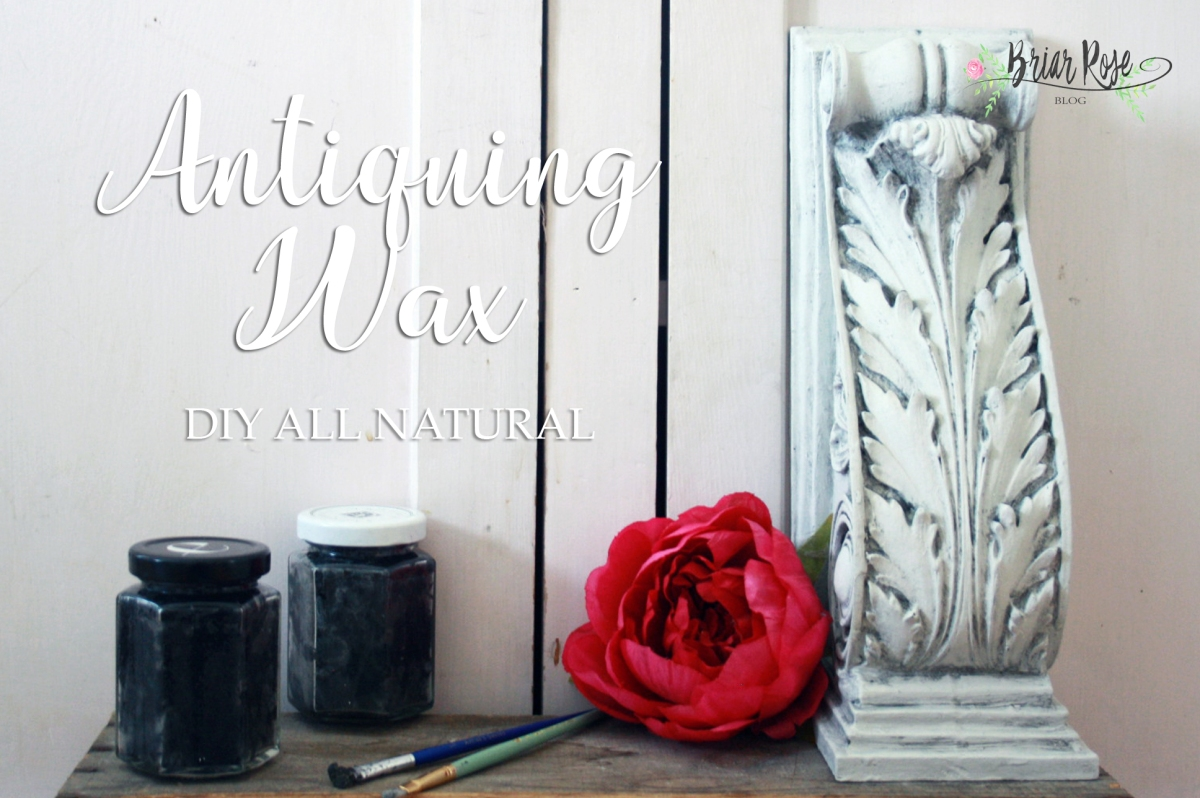DIY all natural Dark Antiquing Wax