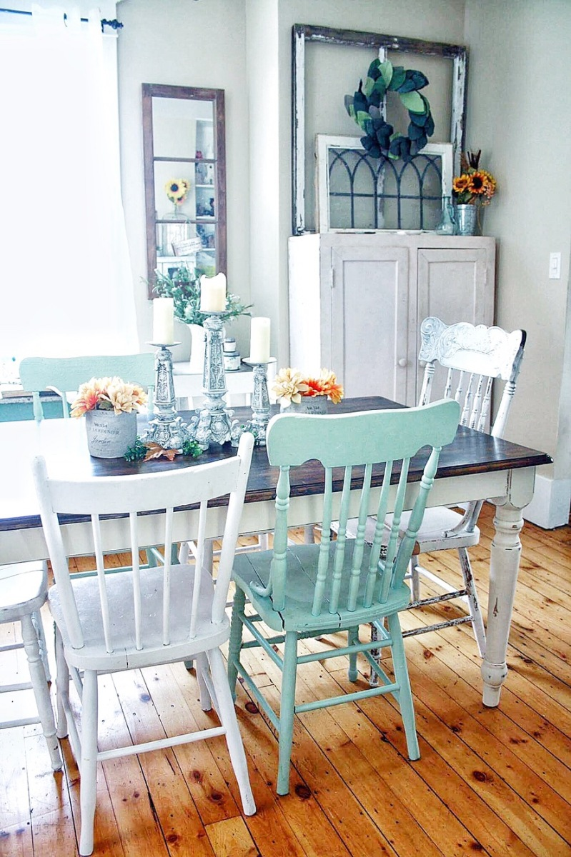 Harvest Table Makeover | before & after