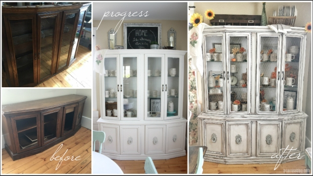 China Cabinet Makeover - Farmhouse Style