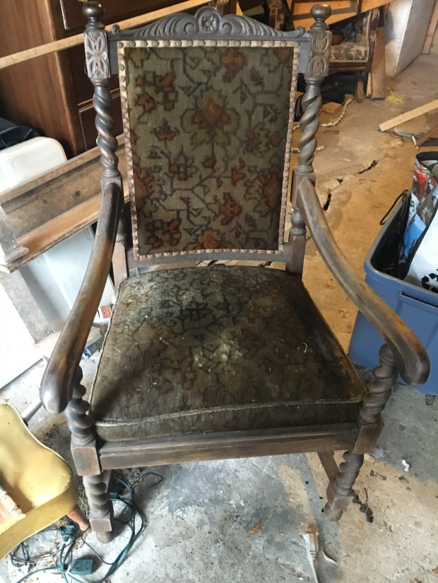 This chair was given to me by Don George, whom I call my bonus Dad, and it  was given to him by his mother. There was a matching rocker that I remember  ... - Freshening Up An Antique Chair. (2 Home Made Recipes For Wood +
