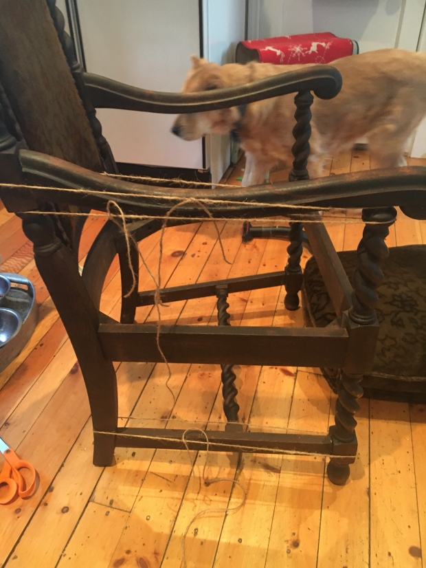 Reinforcing an antique chair