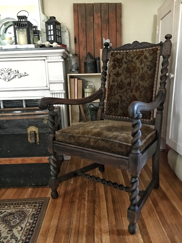 Freshening up an antique chair